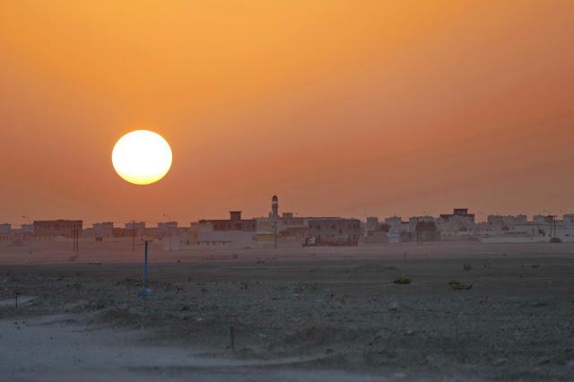 Oman, Roadtrip, Übersicht, Sonnenuntergang, Wüste, Wüstenstadt, Haima, Stimmung