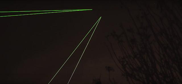 laser em lixo espacial