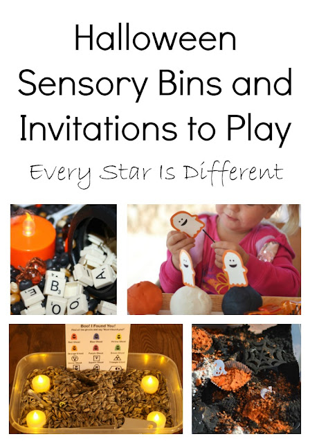 Halloween Sensory Bins and Invitations to Play for Kids