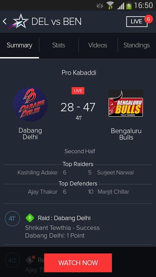 Star Sports Live Cricket Score