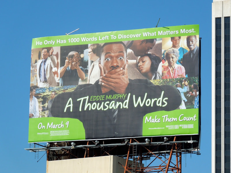 A Thousand Words movie billboard