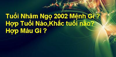 Xem Tu Vi Nham Ngo 2002