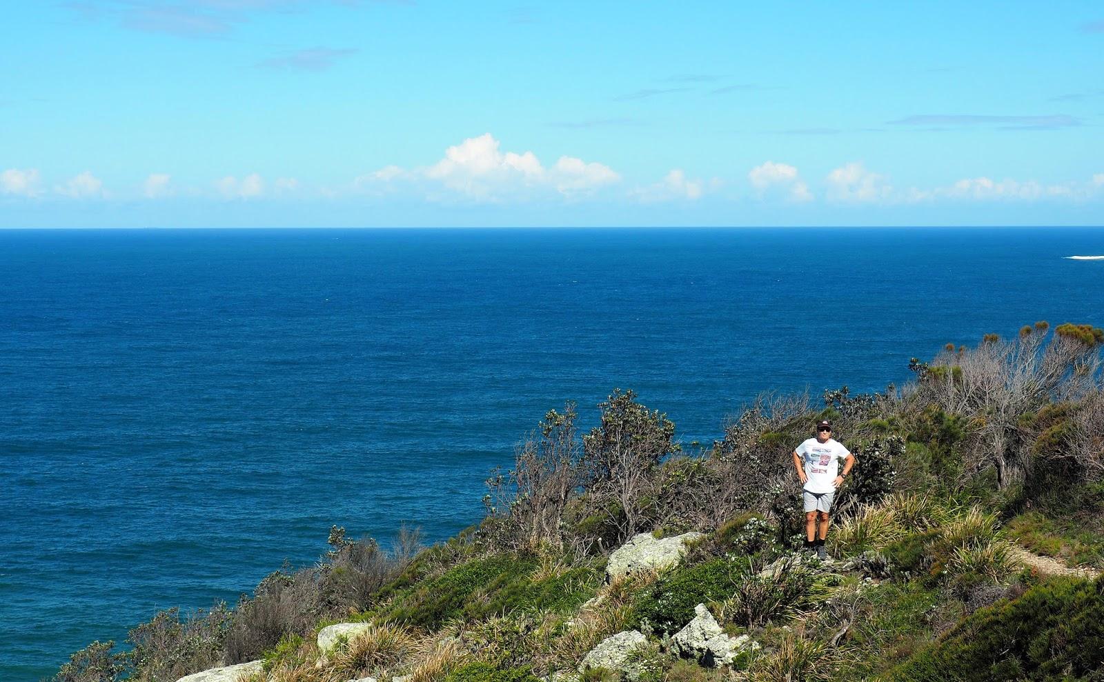 Male at lookout Diamond Head Loop Walk