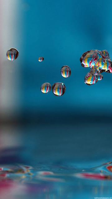 Hình nền 3D giọt nước đẹp cho iPhone 7 Plus