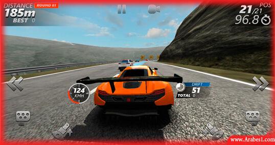لعبة سباق سيارات تلاثية الابعاد للاندرويد : Driveline