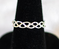 Avon Sterling Silver Braid Ring