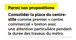 Les promesses de la Mairie et de Nathalie Appéré lors des dernières élections municipales