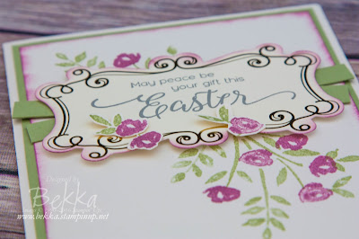 Pretty Floral Easter Card featuring the Number of Years Stamp Set from Stampin' Up! UK which you can purchase here