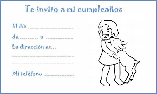 Manualidades Con Mis Hijas Invitaciones De Cumpleaños Para