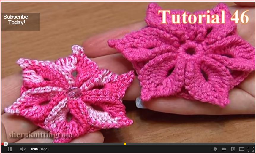 20 patrones de flores crochet y dos agujas | Patrones para Crochet