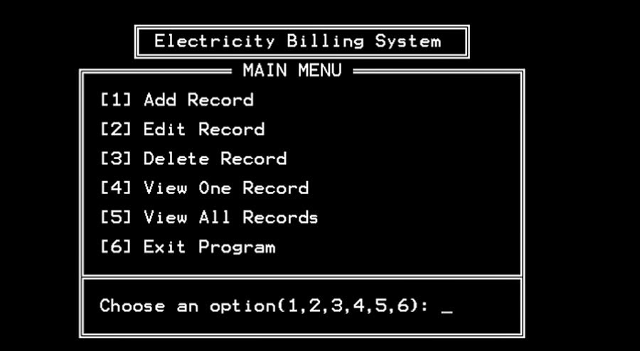 Free Programming Source Codes To All Electricity Billing