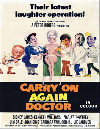Poster Of Carry on Again Doctor 1969 Dual Audio 720p Web-DL [Hindi - English] ESubs Free Download Watch Online Worldfree4u