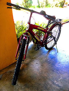 Huffy Is A Red Bicycle