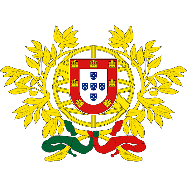 Logo Gambar Lambang Simbol Negara Portugal PNG JPG ukuran 600 px