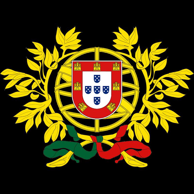 Logo Gambar Lambang Simbol Negara Portugal PNG JPG ukuran 800 px