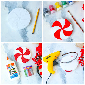 Follow this step by step tutorial on how to create an adorable Peppermint fascinator headband for Christmas!