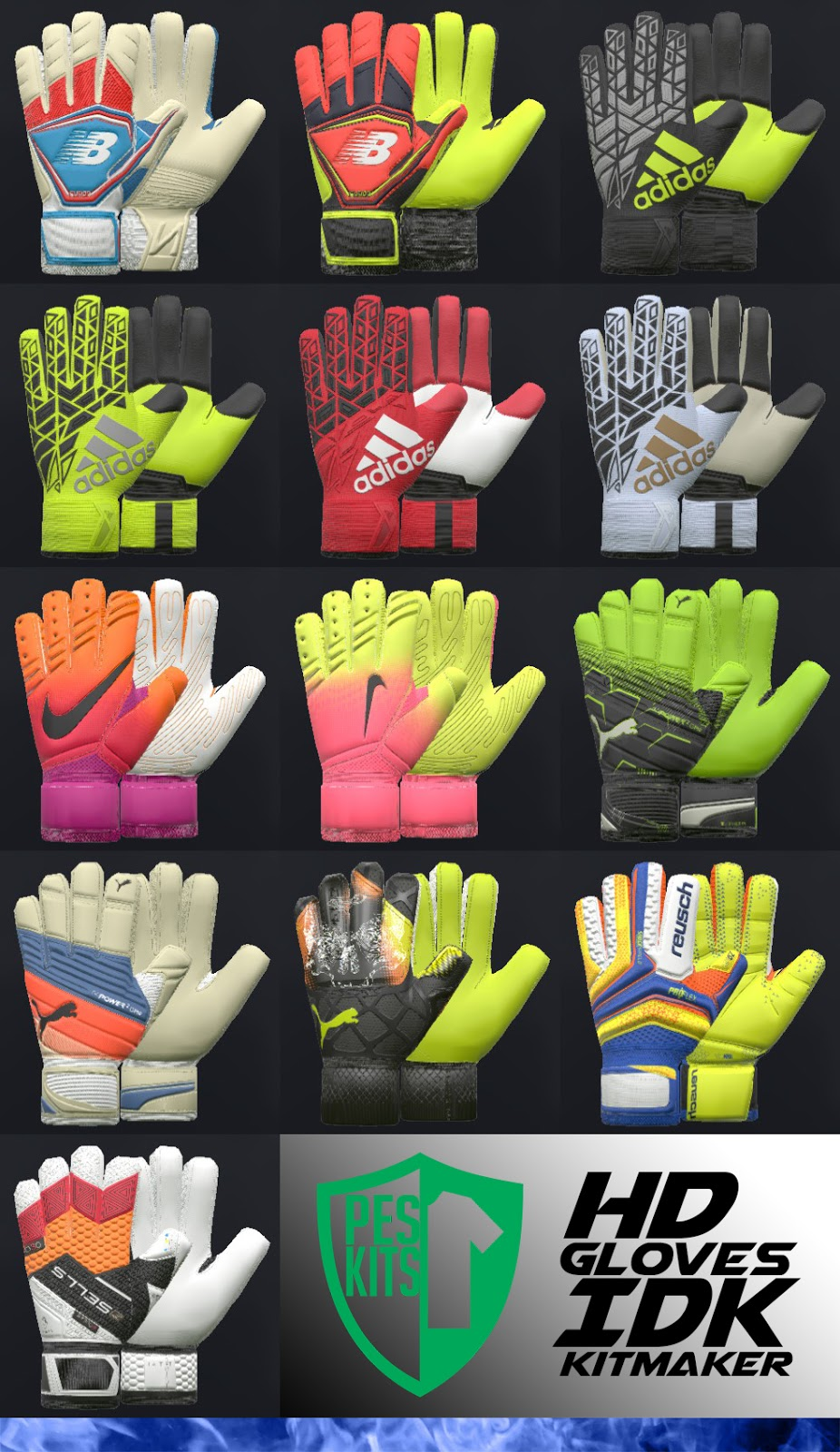 PES 2017 HD GK Gloves V 0.2 by IDK