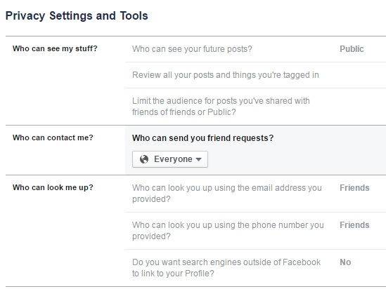 privacy settings and tools