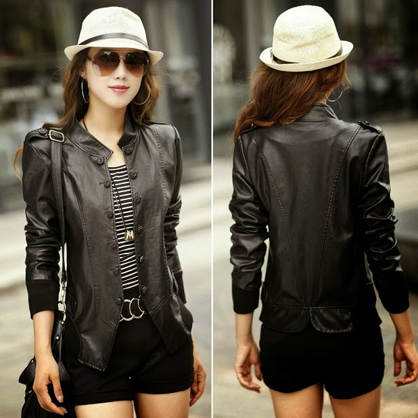 Gambar Leather Jacket Korean Style