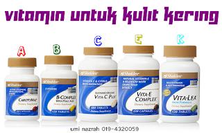 vitamin shaklee kulit kering