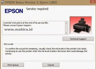Adjustment Program for Printer Epson L1800