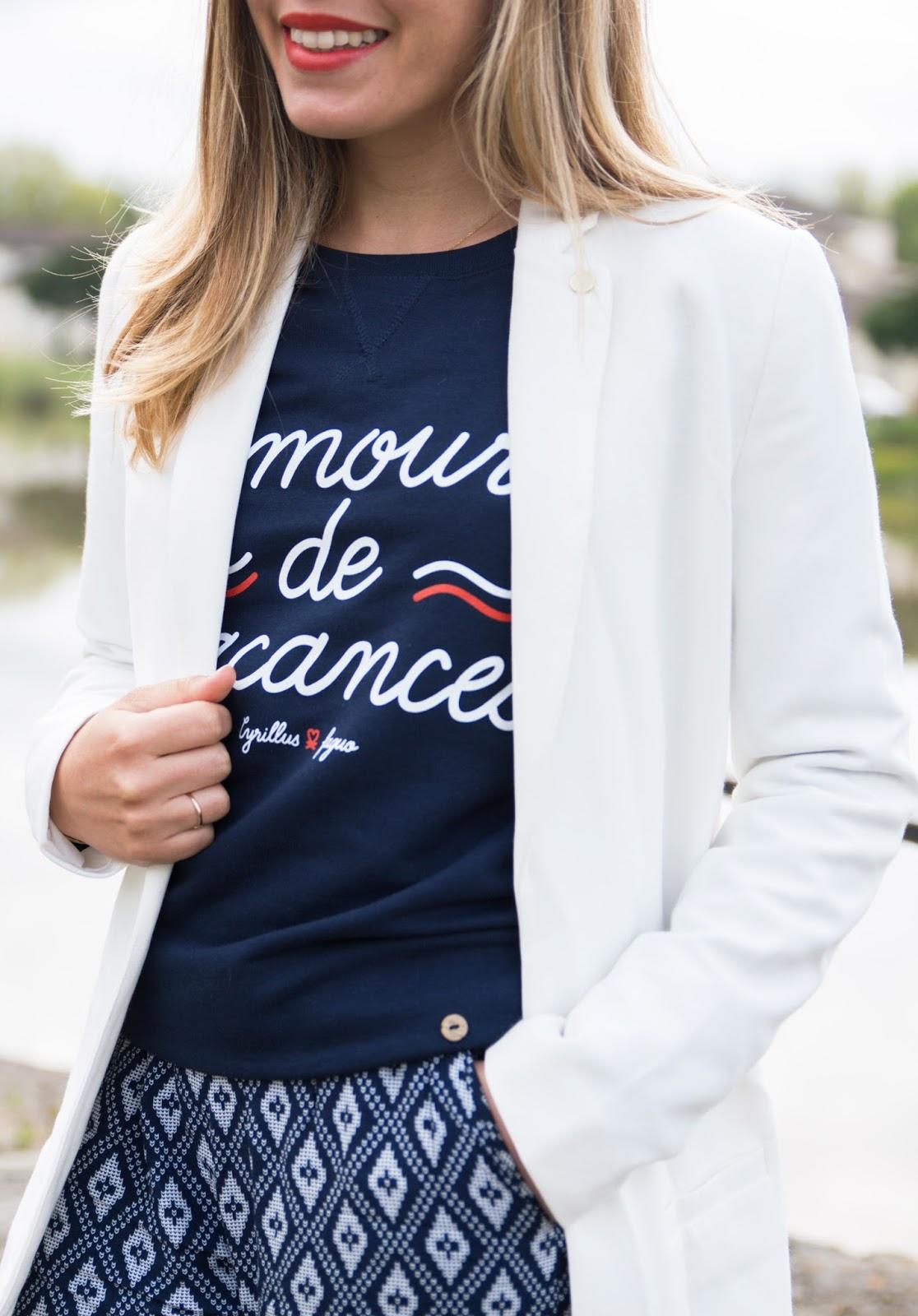 blazer long blanc I.Code