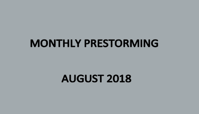 UPSC Monthly Prestorming - August 2018 - Download pdf