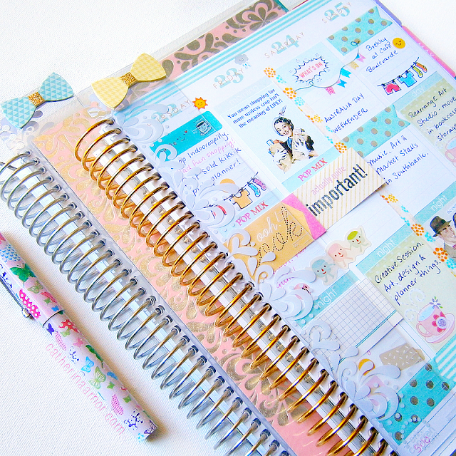 Inside my Erin Condren Planner