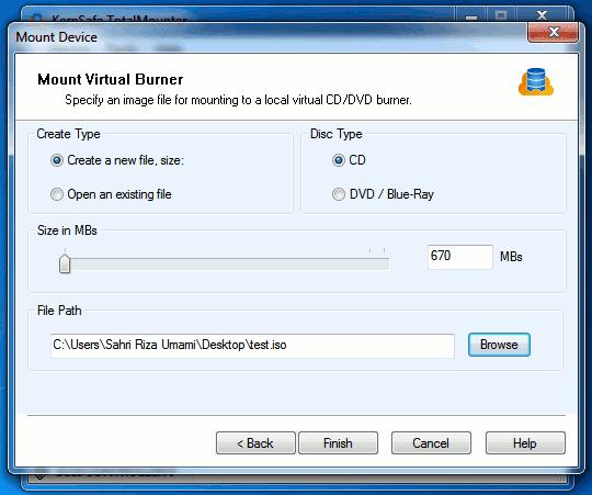 TotalMounter drive properties window