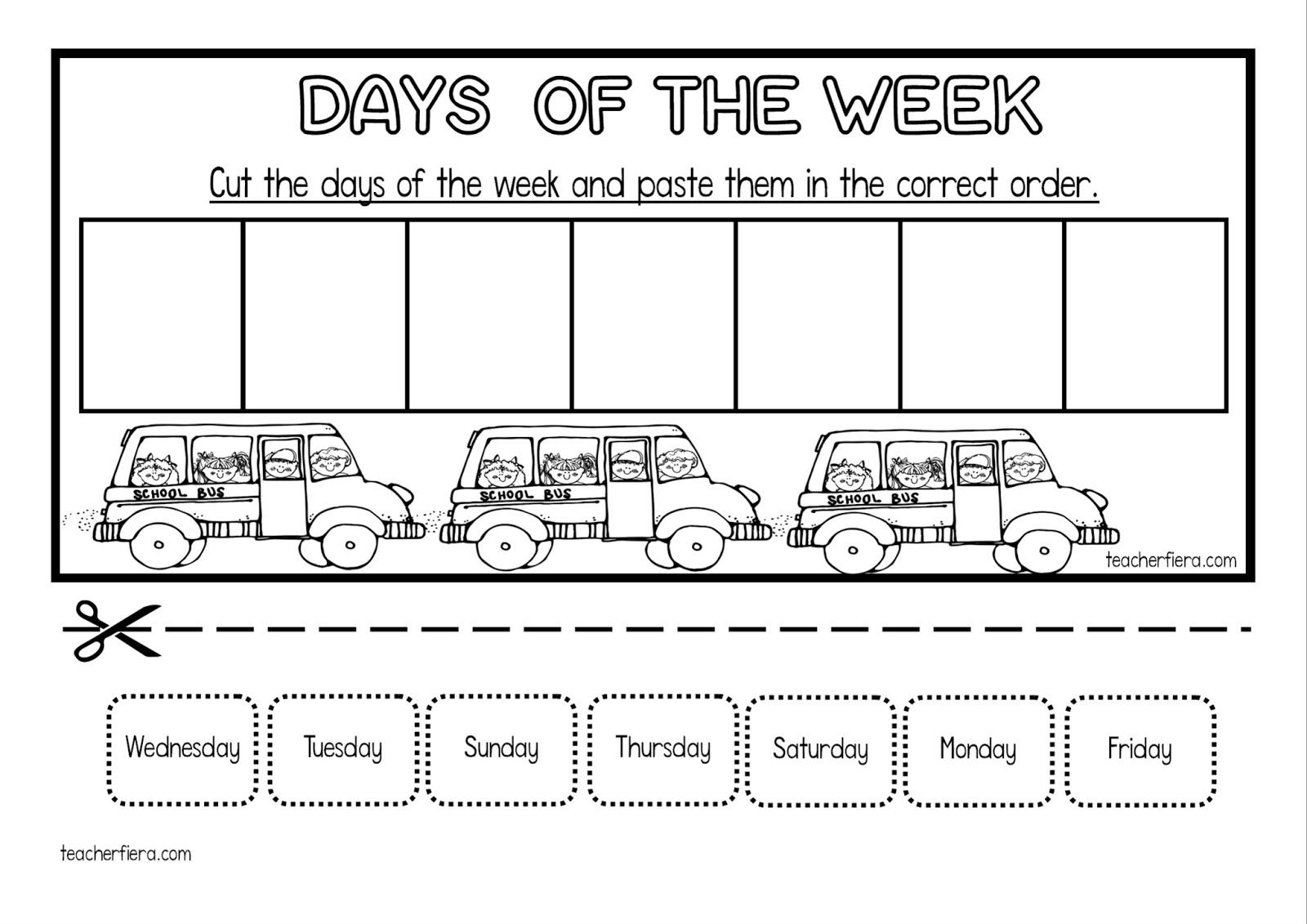 TEACHER FIERA'S ASSEMBLAGE: DAYS OF THE WEEK