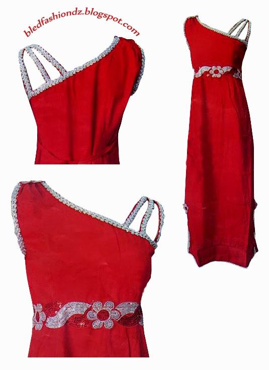 La Mode Algérienne Robe Interieure Rouge