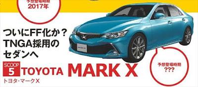 トヨタ新型マークX フルモデルチェンジ最新情報