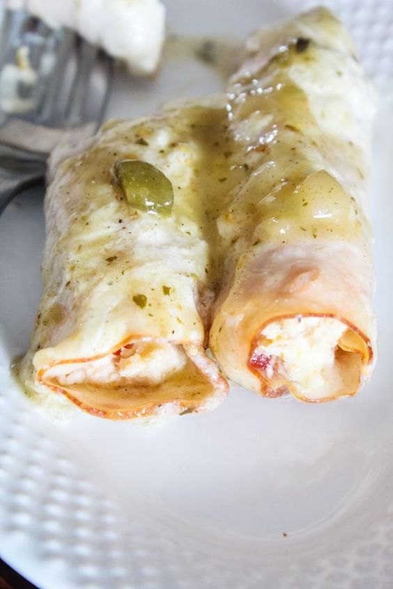 Keto Chicken Enchiladas - White Version