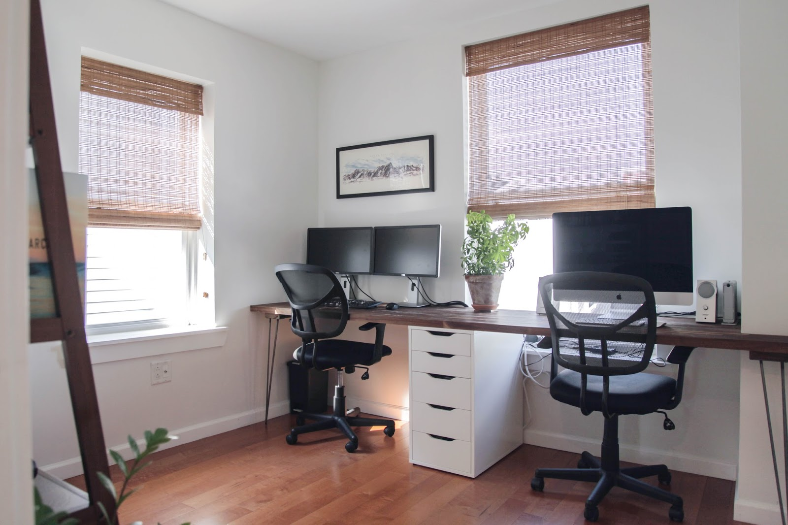 Before + After: A Home Office Makeover With Space For Two Awesome Ideas