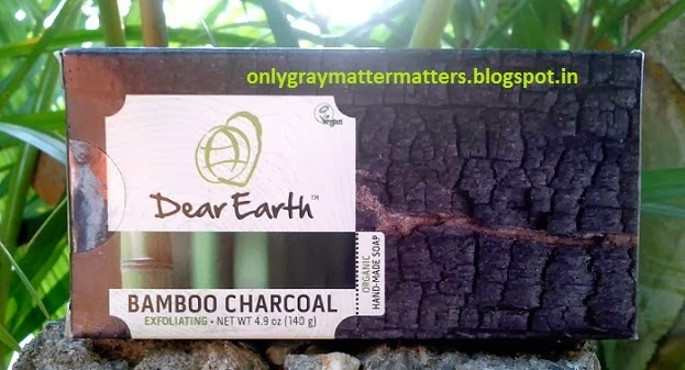 Dear Earth Bamboo Charcoal Exfoliating Organic Soap Review Unived India