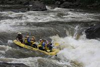 gauley river sweets falls, raft 16 footer Khaki big boy cowboy helmet comercial guide,