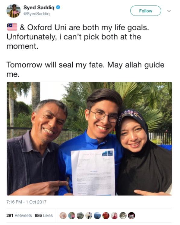 Tolak Tawaran Oxford, Keputusan Syed Saddiq Dipersoal Netizen