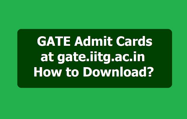 GATE Admit Cards