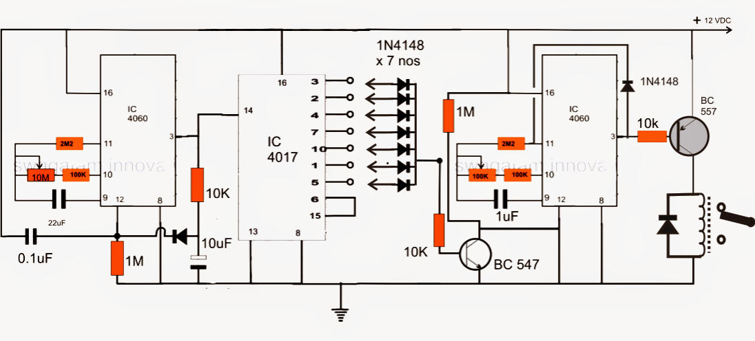 ic 4060 programmable timer circuit diagram image