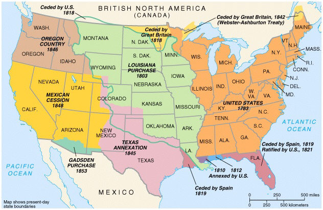 Mexican American War Map After
