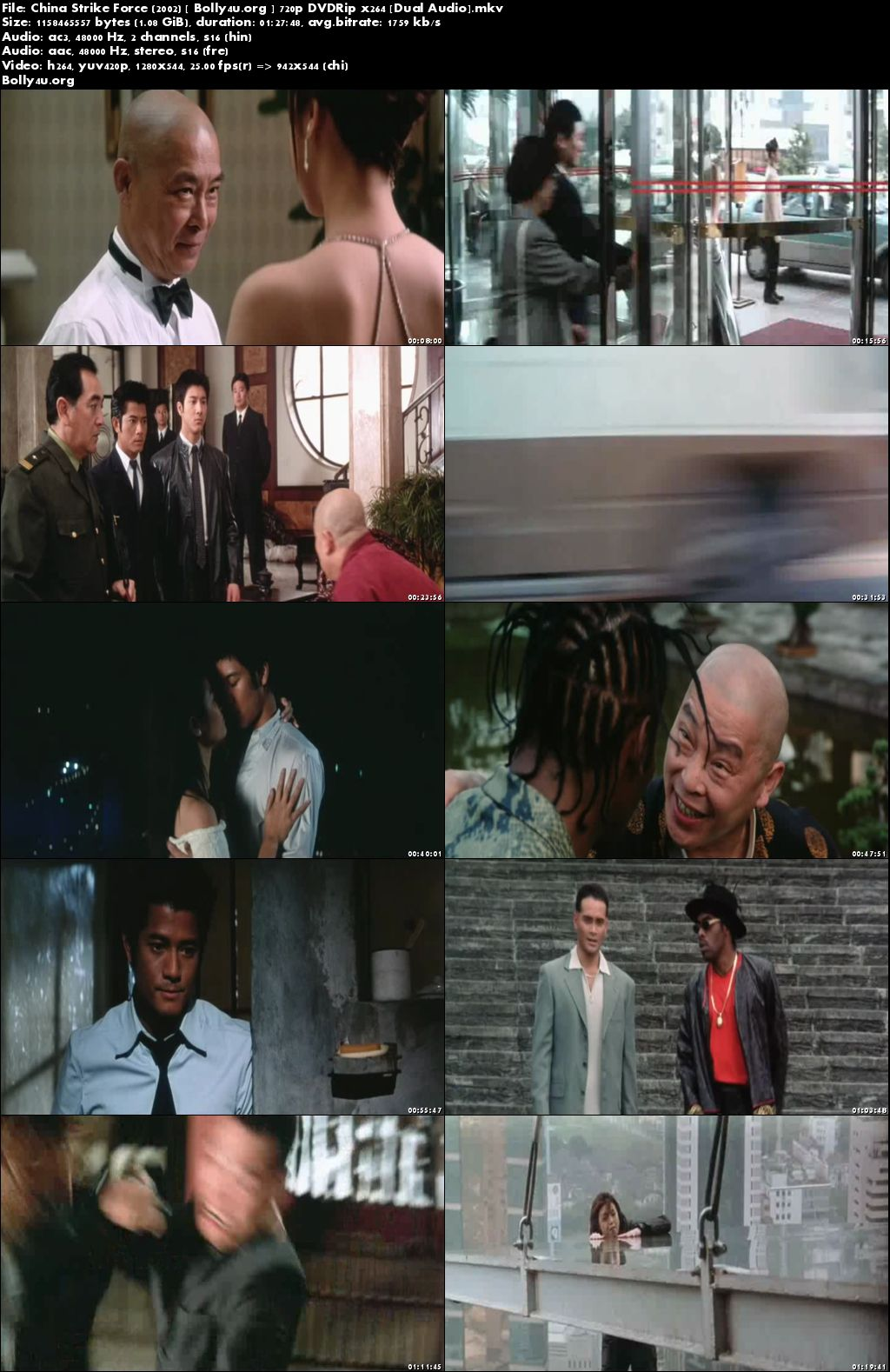 China Strike Force 2002 DVDRip 720p Hindi Dubbed Dual Audio