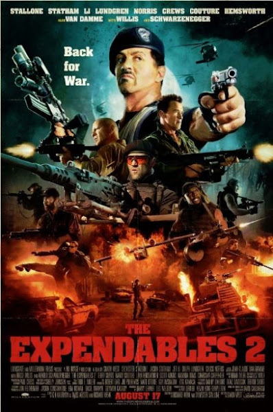 Poster Of The Expendables 2 (2012) Hindi 720p BRRip Dual Audio Full Movie Download