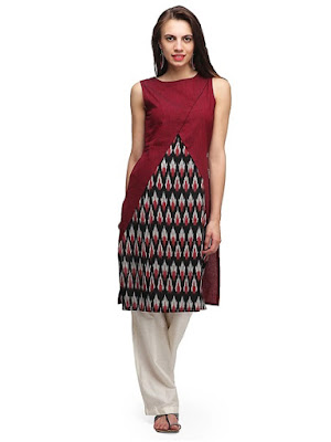 Latest-indian-summer-kurti-designs-with-lace-for-women-4