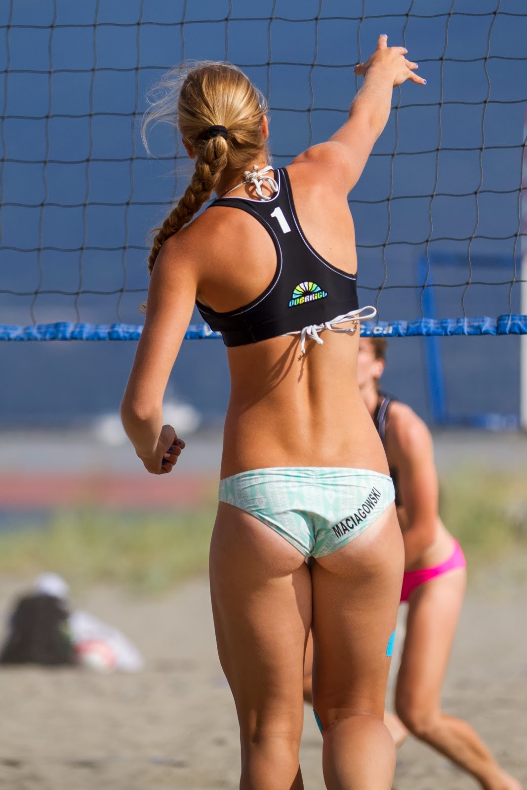 sexy black volleyball girl