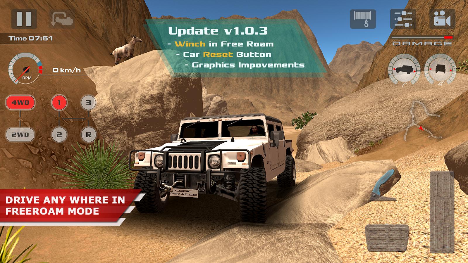 تحميل لعبة offroad drive desert
