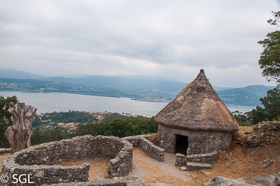 Detalle del castro de Santa Tecla. Pontevedra. Galicia