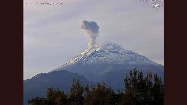 URGENTE: Reportan Sismo En El Volcán Popocatépetl De México.