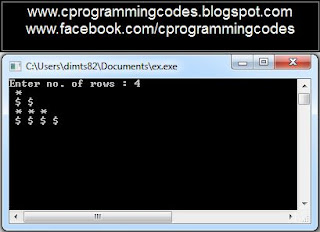 Output of differ symbol pyramid C program