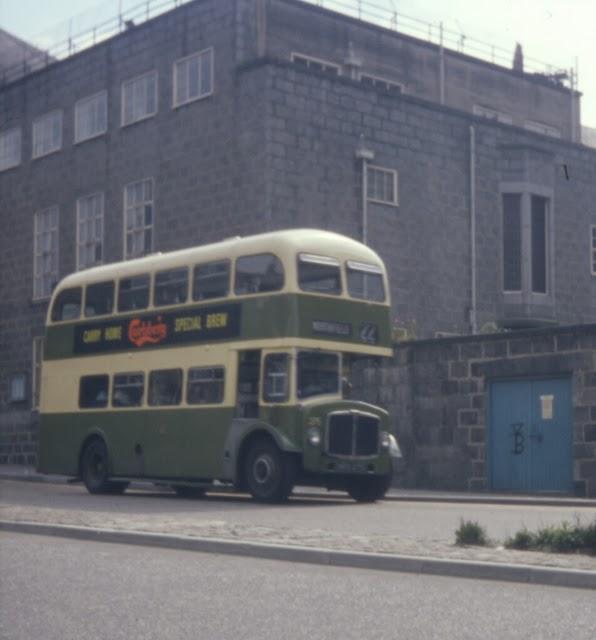 Buses in Aberdeen Scotland ca 1960s  vintage everyday