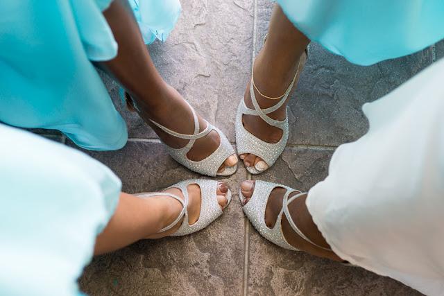 demoiselles d'honneur-chaussures-cortège-mariage-Basse-Terre-Guadeloupe